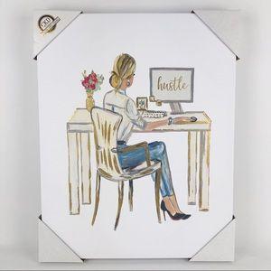 CKD Girl Boss Hustle Printed Canvas Wall Art